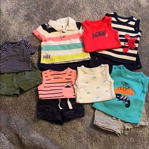 Newborn Baby Boy Summer Outfits.